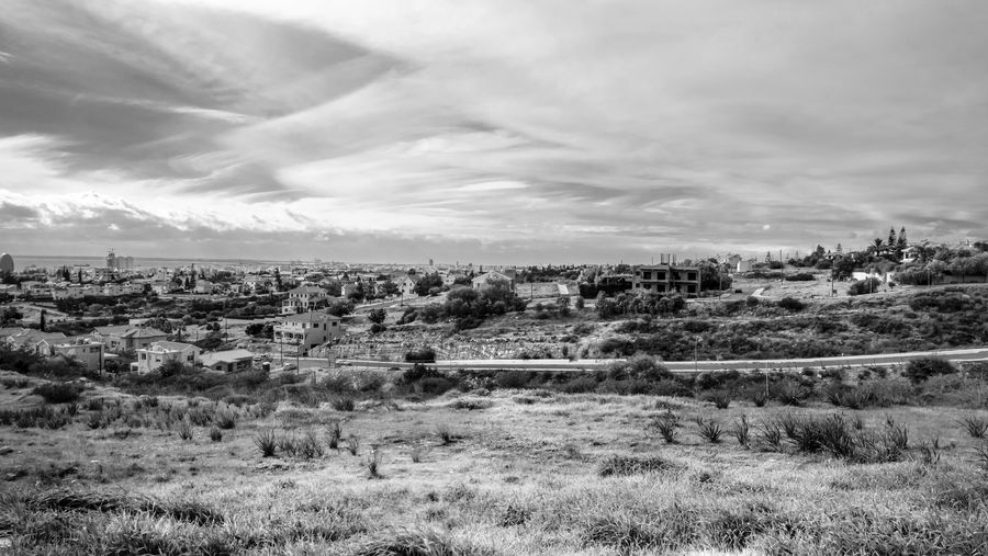 Sky Environment Cloud - Sky Landscape Plant Nature Day No People Beauty In Nature Scenics - Nature Tranquil Scene Field Tranquility Architecture Land Grass Built Structure Building Exterior Non-urban Scene Outdoors Blackandwhite Black And White EyeEm EyeEm Best Shots