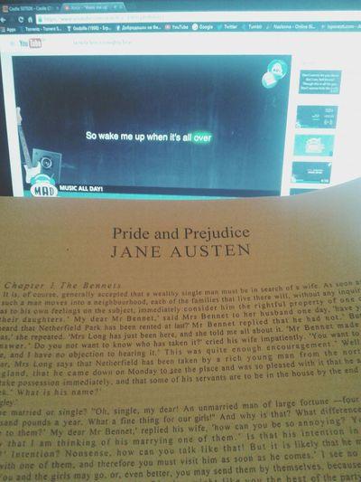 Jane Austen Pride And Prejudice Enjoying Reading A Book
