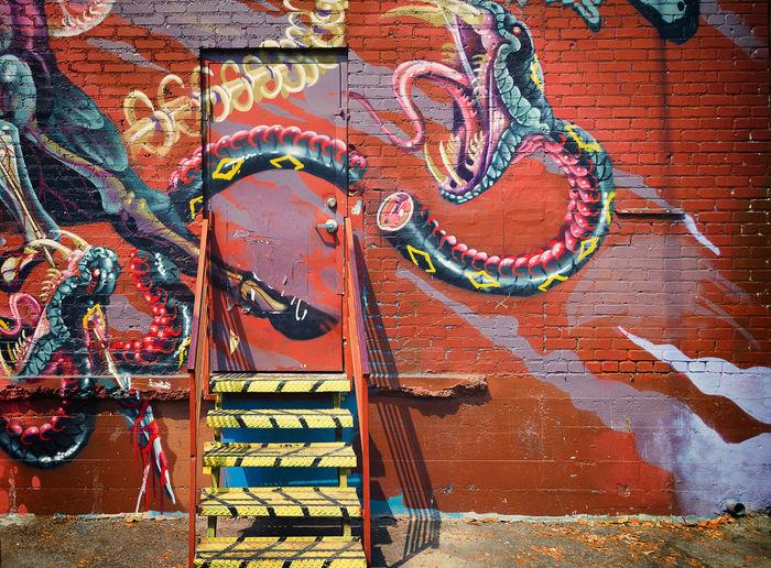 Arts District DTLA Graffiti Murals Steps Colorful Door Dtla Art District Graffiti Art Graffiti Wall Urban