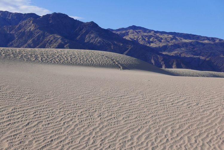 Sand Dune Death Valley Blue Sky Dune Light And Shadow Land Scenics - Nature Landscape Tranquility Beauty In Nature Mountain Sand Tranquil Scene Sky Environment Nature Desert Clear Sky Mountain Range Non-urban Scene Day Remote Arid Climate Sunlight No People