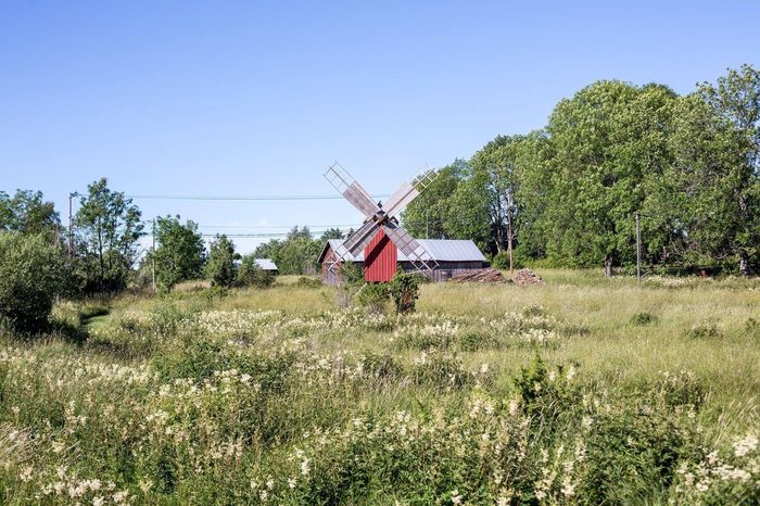 Windmill. Windmill Windmills Travel Scandinavia åland  Aland Islands Finland Countryside