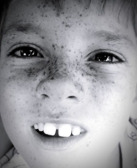 Child Child Photography Child Smiling Freckles Freckleface Smile Smiling Face Eyes Looking At Camera Human Eye Black And White Photography Black&white