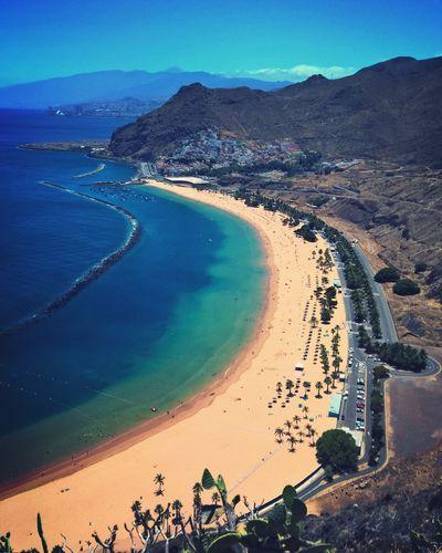 Playa Las Teresitas Panorama Photo Mountain Tenerife España Beach Beach Sunset Atlantic Ocean Sky Colors Amazing