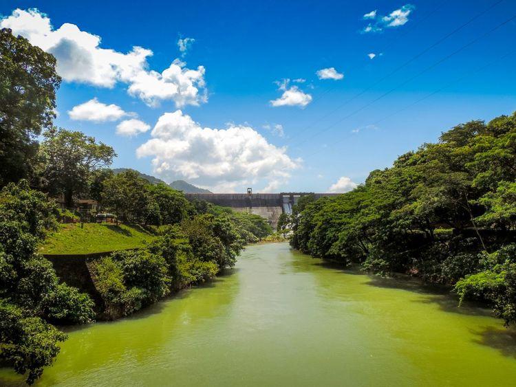 River Dam Clouds And Sky Kerala India Scenery Landscape Nikon Green Greenery
