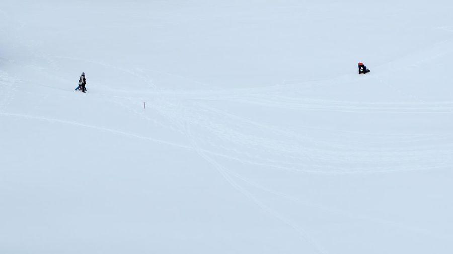 Ski skiing on snow covered mountain