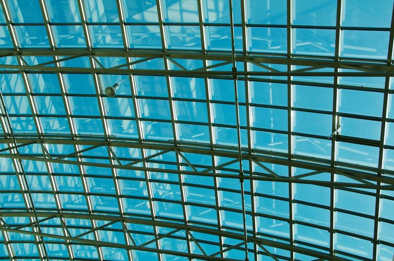 Glass - Material Design Blue Sky Colour Of Life Arhitecture Blue