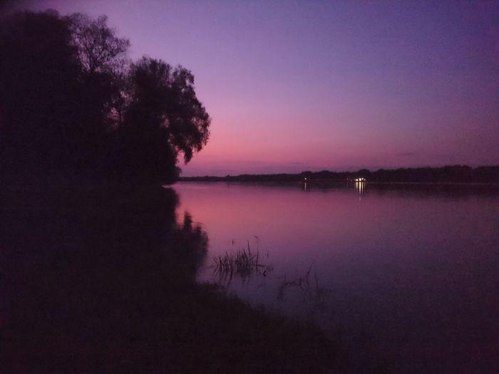 Kulcsi est Water Sunset Nature Horizon Over Water Duna Hungary Danube Kulcs
