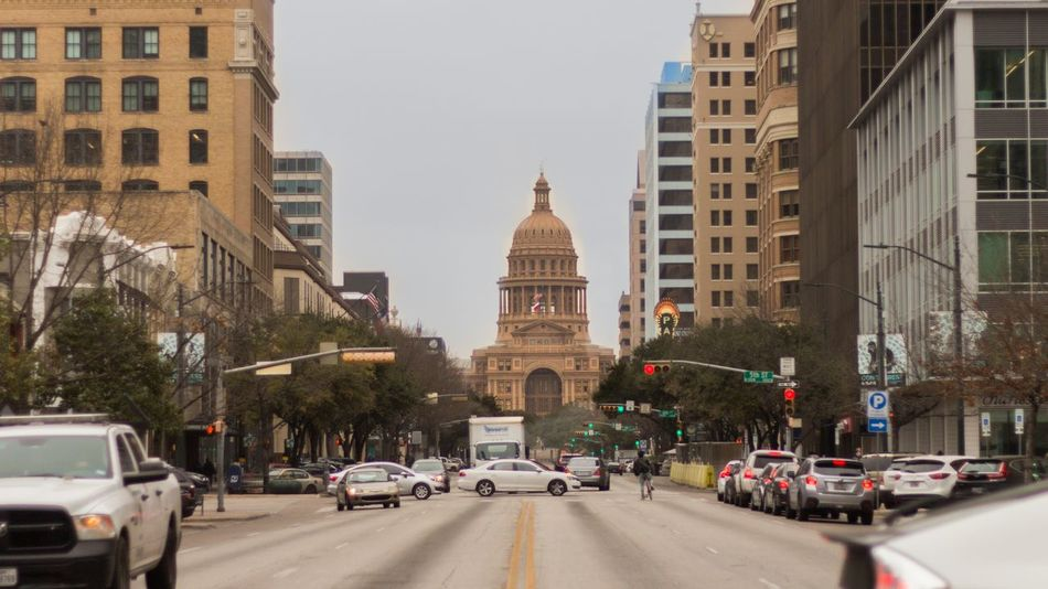 Texas State Capitol in Austin Austin Austin, TX Texas EyeEm Selects Architecture City Traffic Travel Destinations City Street Street Travel Politics And Government First Eyeem Photo