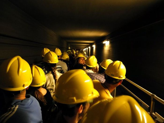 Construction workers in tunnel