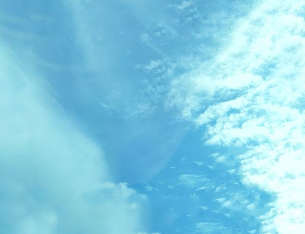 Low Angle View Sky Cloud - Sky Beauty In Nature Nature No People Backgrounds Day Sky Only Blue Full Frame Outdoors Scenics Cloudy Blue Sky Beauty In Nature