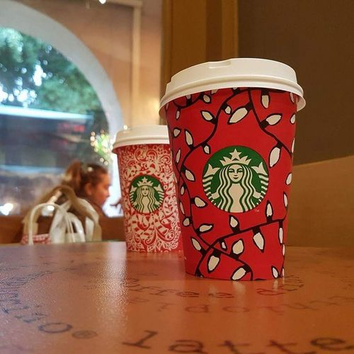 Red Winter Day Close-up Indoors  Christmastime Christmas Spirit Starbucks Starbucks Coffee Coffee Coffee Time Morning Cold Winter Friendship Bestfriends Friend Hangouts  Happy Celebrating Shopping Time Relaxing Eyeemphotography Colors EyeEm Best Shots