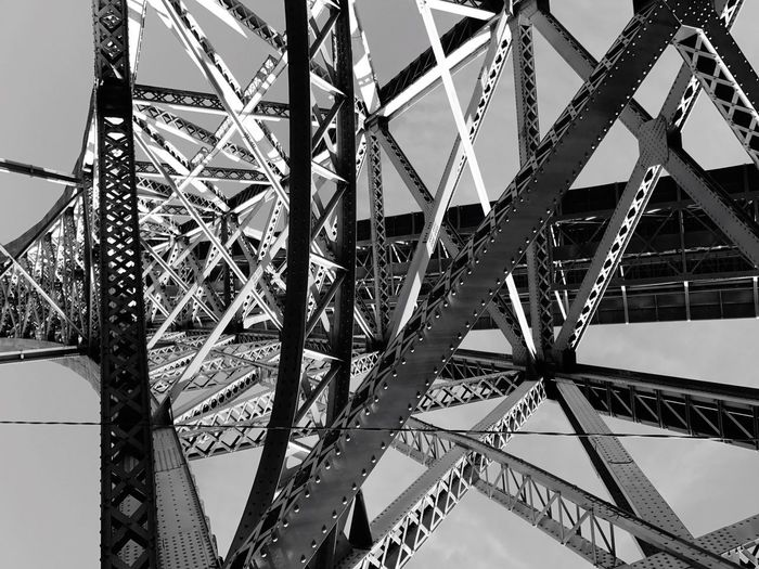 Low Angle View Built Structure Architecture Outdoors Girder Metal Bridge - Man Made Structure