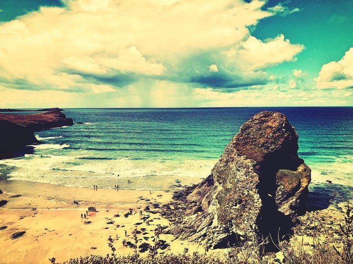 Beach Sea Water Beach Sky Land Cloud - Sky Sand Beauty In Nature Nature Holiday Vacations Outdoors Trip