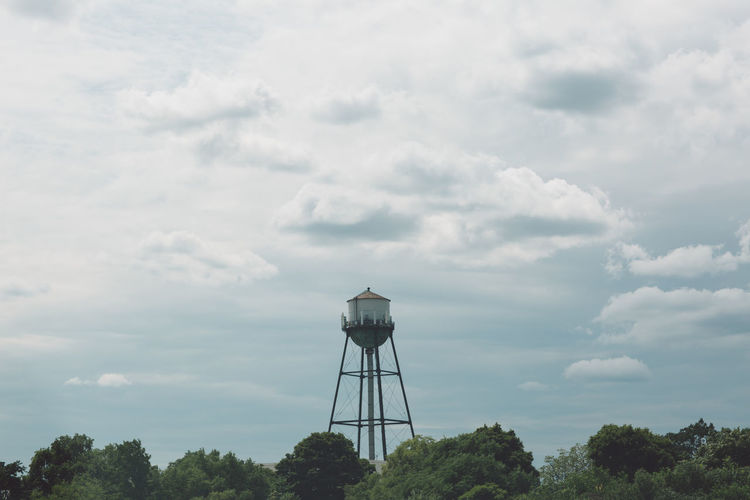 Water tower against sky