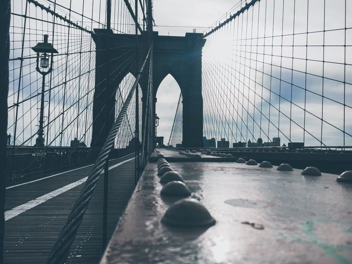 Brooklyn Bridge Against Sky