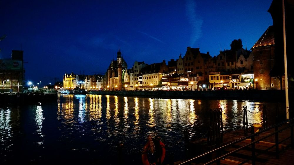 Gdańsk. Motława River Night Lights Night Town Night City Live For The Story HUAWEI Photo Award: After Dark