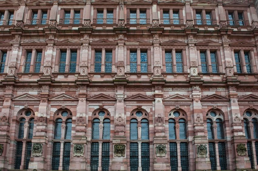2017 Germany Heidelberg Architecture Building Exterior Built Structure Window Travel Destinations Low Angle View History Outdoors Day No People Full Frame Close-up Heidelberg GERMANY🇩🇪DEUTSCHERLAND@ Travel Photography The Week On Eyem