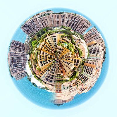 Little planet 360 degree sphere. Panorama of Fontvieille. Principality of Monaco 3 Dimensional 360 Degree Circle Earth Panorama Panoramic Skyline Sphere Tiny Architecture Building Exterior Built Structure City Cityscape Globe Landscape Miniature Planet Principality Of Monaco Skyscraper Three Dimensional Three Dimentional Photography Urban Skyline World Worldwide