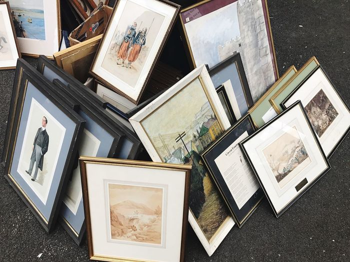 Picture Frame Photograph Photography Themes High Angle View No People Directly Above Reminder Day Outdoors Car Boot Sale Car Boot Sale Carboot London Battersea