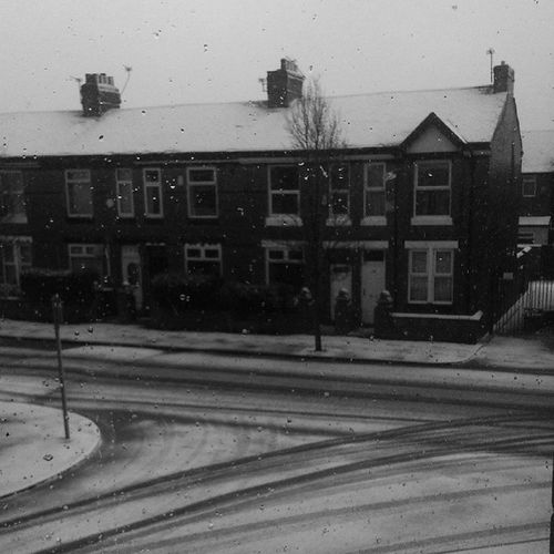 Wintertime Snow Winter Uk England Igtravel IGDaily Road Redbricks Icecold Photooftheday Malenchony Architecture North Manchester View Window Ice Monocromatic Blackandwhite