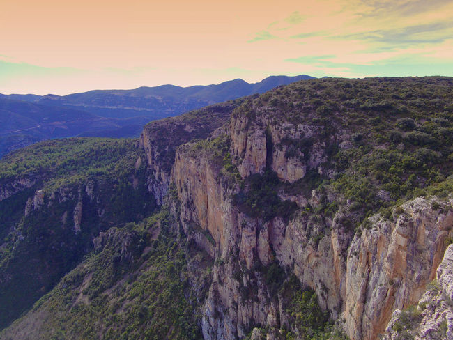 Drone  Nogera Pallaresa River Gorge In The Region Of La Noguera Province Of Lérida Beauty In Nature Cliff Day Drone Photography Geology Landscape Mountain Mountain Range Nature No People Outdoors Physical Geography Rock - Object Rock Formation Scenics Tranquility Travel Destinations