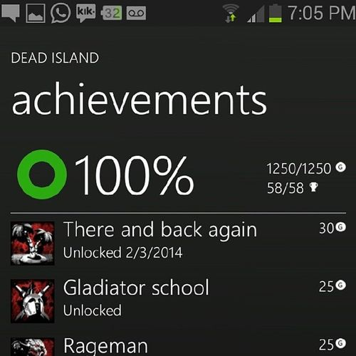 DeadIsland Xbox360 100 % Thereandbackagain Thanks Kaiju Stephmaister
