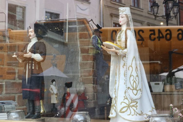 Construction Workers EyeEmNewHere Poznań Poland City Life Contrast National Costume National Dress Reflection In Window