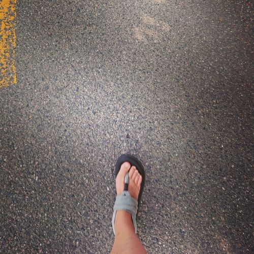 Best foot forward Steps Fitbit Walking Low Section Standing Human Leg Road High Angle View Shoe Close-up Human Feet Footwear Stone Tile Personal Perspective Human Foot Foot Sandal Feet