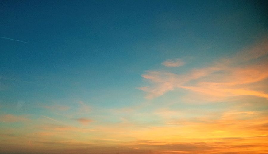 Sunset Sky Nature Beauty In Nature Low Angle View No People Tranquility Scenics Tranquil Scene Outdoors Day