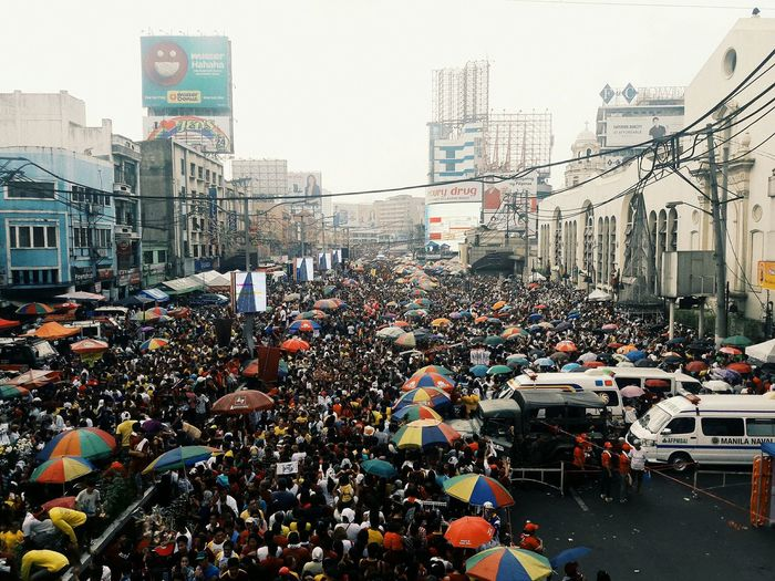 Quiapo Fiesta City City Life Car Large Group Of People Building Exterior Outdoors Crowd People Cityscape Mobility In Mega Cities Stories From The City