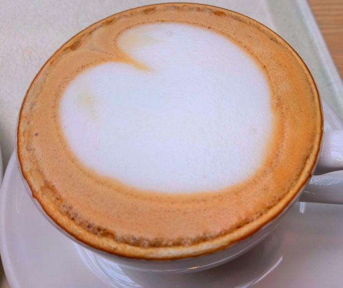 Koffie Froth Art Frothy Drink Latte Dessert Plate