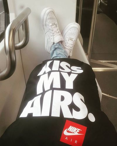 KISS MY AIRS✔On The Way To  Soleuno Enjoy Beautiful Sunday Nike Nikeair White Love Sneakers Freak Judesack Love Imstagramer