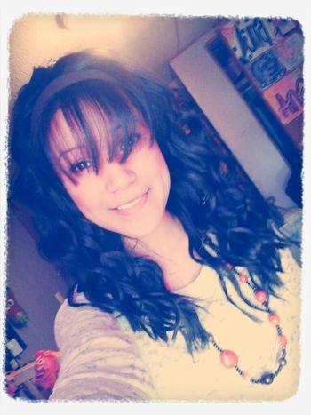 My Art In My Room Brown Eyes Curly Hair Big Bangs