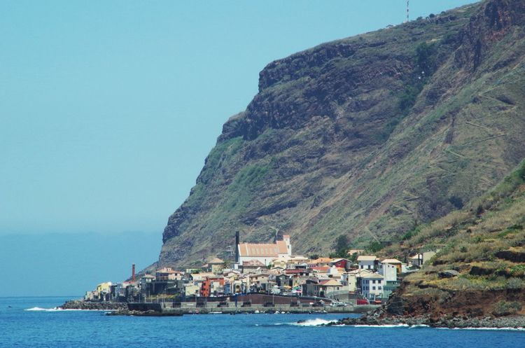Paul do Mar, southern coast of Madeira. Architecture Beauty In Nature Blue Building Exterior Built Structure Coast Coastline Day Jardim Do Mar Madeira Mountain Nature Nautical Vessel No People Ocean Outdoors Paul Do Mar Portugal Scenics Sea Sky Travel Travel Destinations Water Waterfront