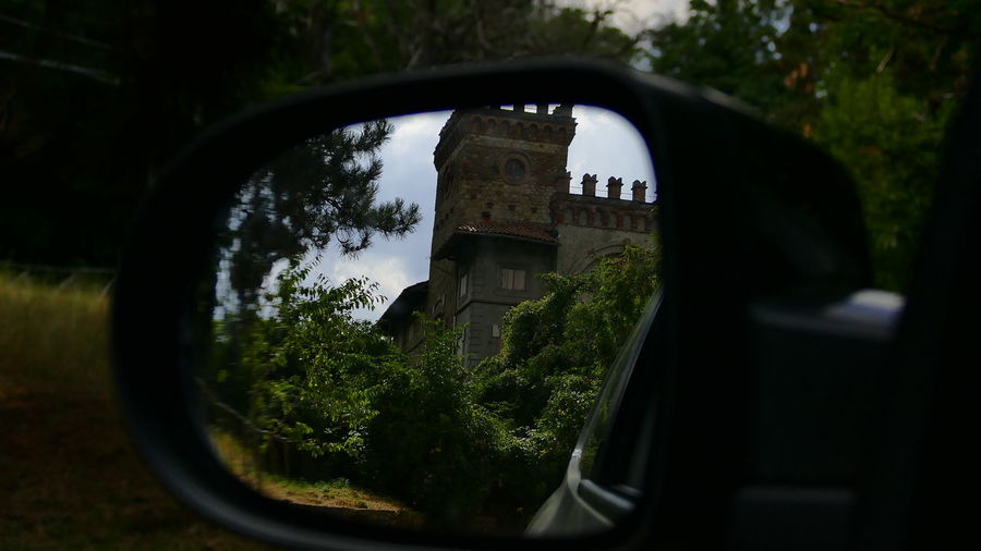 Goodbye Panasonic DMC FZ1000 Architecture Artistic Expression Artistic Photography Castle View  Glass Reflection No People Outdoors Rearviewmirrorshot Reflection Scenics Side-view Mirror