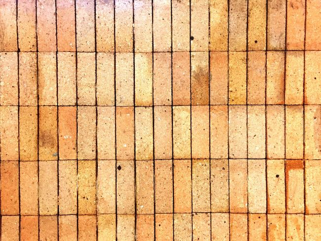 Full Frame Backgrounds Pattern No People Textured  Day Repetition Flooring Design Close-up Brown Wood - Material Yellow Sunlight Outdoors Nature Wall - Building Feature Shape Orange Color In A Row