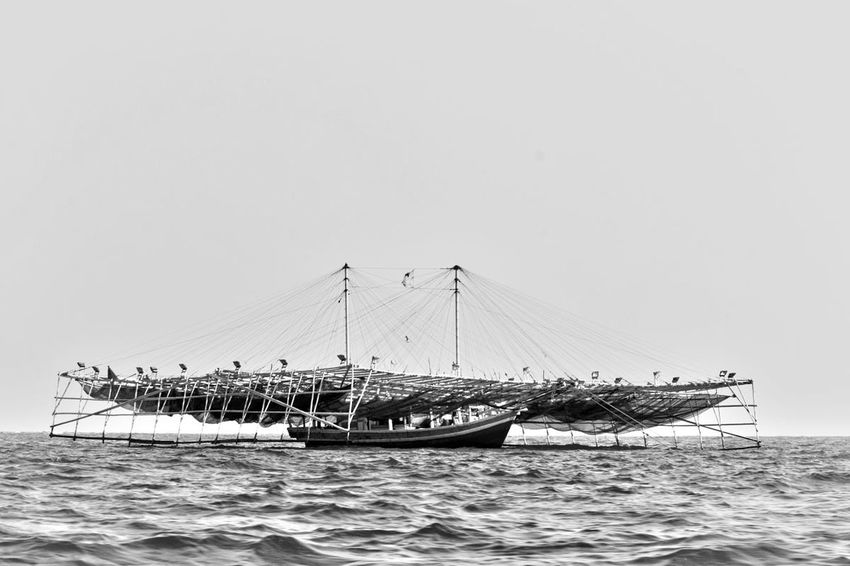 Black And White Boat Fishboat Outdoors Sailboat Transportation Travel Water