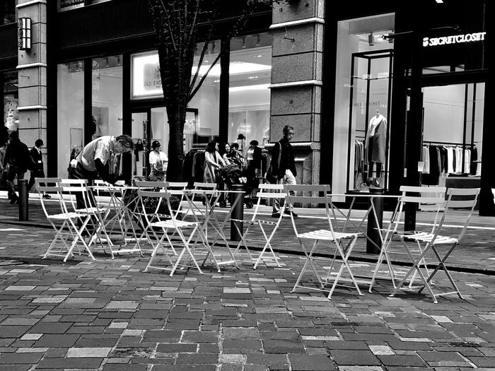 People sitting on chair at cafe