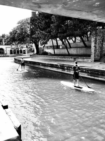Dallas Texas Las Colinas  Canals Paddleboarding My Commute-2016 EyeEm Photography Awards Blackandwhite Feel The Journey