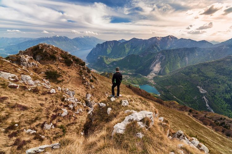 Wanderer 🏞 The Great Outdoors With Adobe Landscape Landscape_Collection Landscape_photography Traveling Travel Travel Photography Mountains Mountain Mountain View Clouds And Sky Clouds Sky Skyporn Wanderlust Wandering Freedom Wildlife Nature Nature Photography Nature_collection Lake Top Perspective Italy Trentino