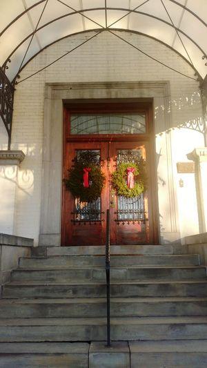Christmas Decoration Doors Old Buildings Toronto Museum Architecture Museum Spadina Museum Toronto Canada Building Exterior History Travel Destinations Architecture