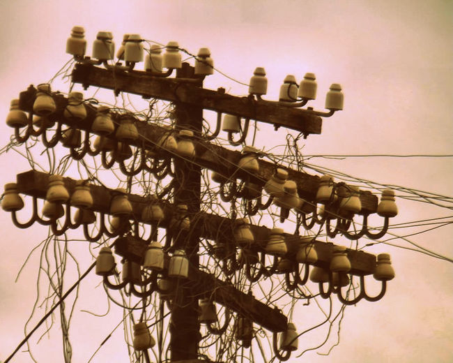 Day Large Group Of Objects No People Old Outdoors Representing Telegraph Telegraph Pole Telegraph Wire Telegraphpole Vintage