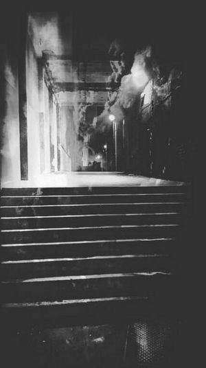 Alley Architecture Blackandwhite Photography Creepy Darkness Eerie Eerie Scene Eerilybeautiful Eye4photography  EyeEm Best Shots EyeEm Best Shots - Black + White EyeEm Gallery Eyeem Scary Pictures Eyem Black And White Photographs Eyem Gallery Hidden Danger Horror Movie Scene Indoors  Jack The Ripper No People Scary Places Smokey Alley Steps In To The Light Uneasy Feelings Wak Through
