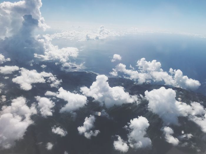 Cloud - Sky Beauty In Nature Sky Tranquility Scenics - Nature Tranquil Scene Water Non-urban Scene Cloudscape Environment Idyllic Outdoors Aerial View Nature Sea White Color Day No People Blue
