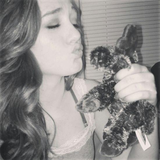 Shes got a love like whoa. Beautiful Moose Selfie Girl Cute Pretty Stuffedanimal