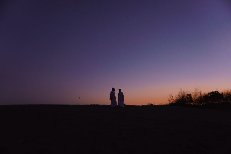 Sky Sunset Togetherness Two People Silhouette Bonding Standing Positive Emotion People Emotion Scenics - Nature Tranquility Adult Nature Leisure Activity Beauty In Nature Women Men Love Land My Best Travel Photo