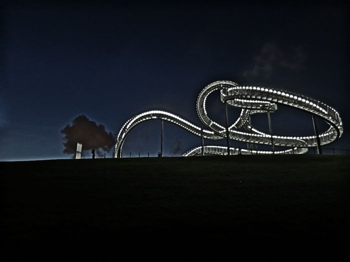 Animal Themes Architecture Arts Culture And Entertainment Built Structure Clear Sky Copy Space Domestic Animals Dusk Full Length Horse Illuminated Low Angle View Mammal Night No People One Animal Outdoors Side View Silhouette Sky Stairway Standing Tiger & Turtle Tiger And Turtle Two Animals