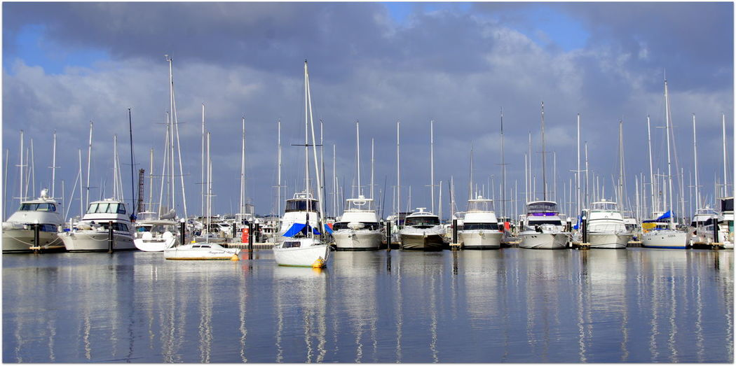 Abundance Boat Cloud Cloud - Sky Crawley Day Harbor Large Group Of Objects Mast Matilda Bay Restaurant & Bar Mode Of Transport Moored Nautical Vessel No People Ocean Perth CBD Sailboat Sea Sky Transportation View From The Window... Waterfront Beautifully Organized