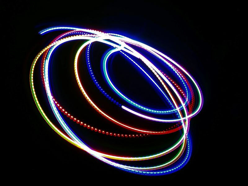 Illuminated Night Celebration Light Painting HuaweiP9 Oo Colours Light Circle Swirl Neon Life