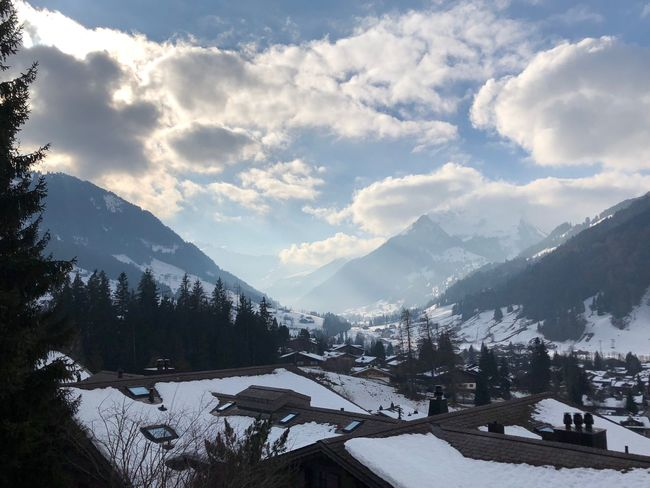 Waiting for a blue sky 🌞 Bolonie Style Bolonie Art I❤️Gstaad Bolonie Mountain Snow Winter Cold Temperature Mountain Range Sky Cloud - Sky Nature House Beauty In Nature Scenics Outdoors Range Day Landscape No People Architecture EyeEmNewHere Shades Of Winter